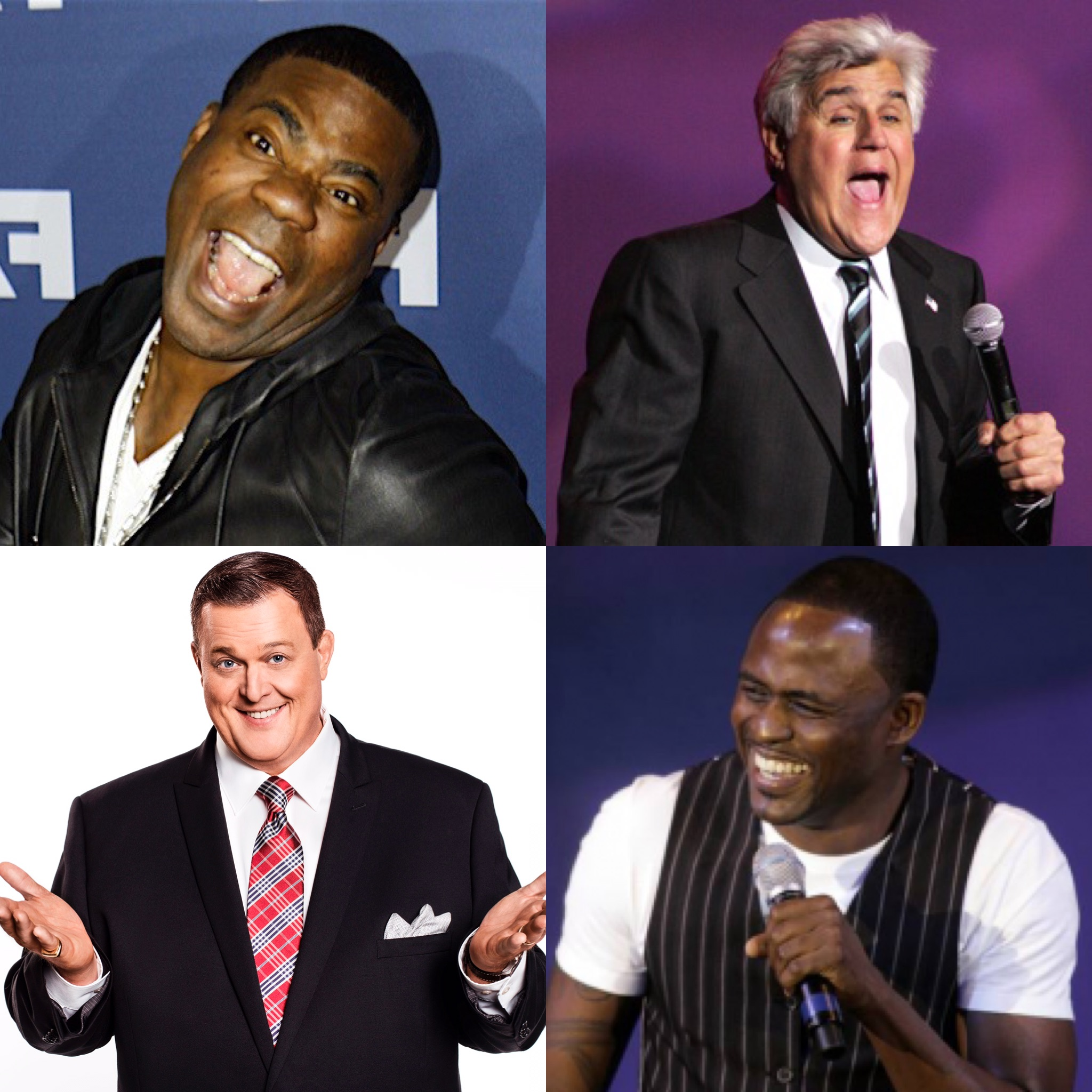 Laughing celebs - morgan, leno, gardell and brady