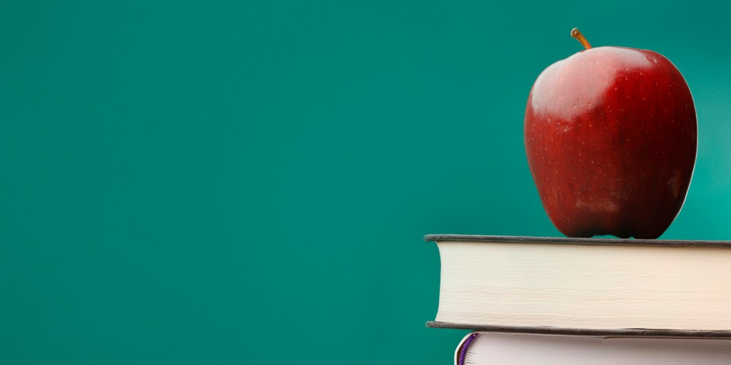 Education Background with Apple and Books